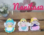 Hada de los dientes, amigurumi crochet,  bolsillo monedero,  pequeño,  alas de mariposa, niños baby shower, gift for mom, gift for her, girl