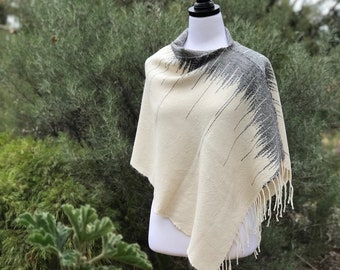Suri Alpaca Hand Woven Ladies Poncho