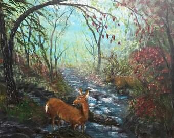 Deer in deep woods.  Did you hear that?