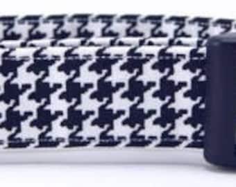 Houndstooth Adjustable Handmade Cotton Dog Collar