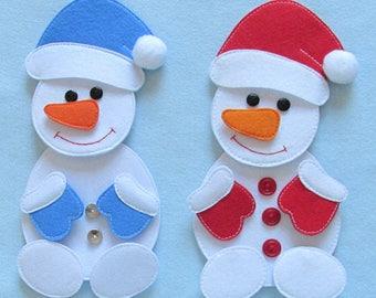 """Snowman, Felt Snowman,Puzzle,  Puzzle """"Snowman"""", Christmas decoration"""
