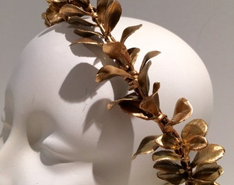 Caesar headpiece- Goddess Headdress -Gold Leaf headband- Toga- Egyptian headdress- Roman Eqyptian -Cleopatra -Leaf Halo- Caesar Costume