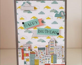 Happy birthday scenic card for him