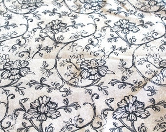 Coupon fabric upholstery flowers 70 x 50 cm