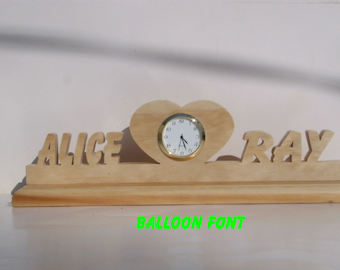Heart with a clock, wedding decor, rustic wedding, bridal table, lovers heart,