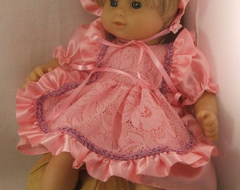 Adorable Pink  Dress Ensemble for Bitty Baby
