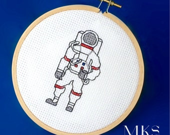 Astronaut Cross Stitch Pattern - Instant Download