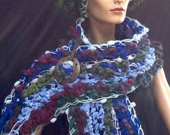 Scarf/stole with matching hat.