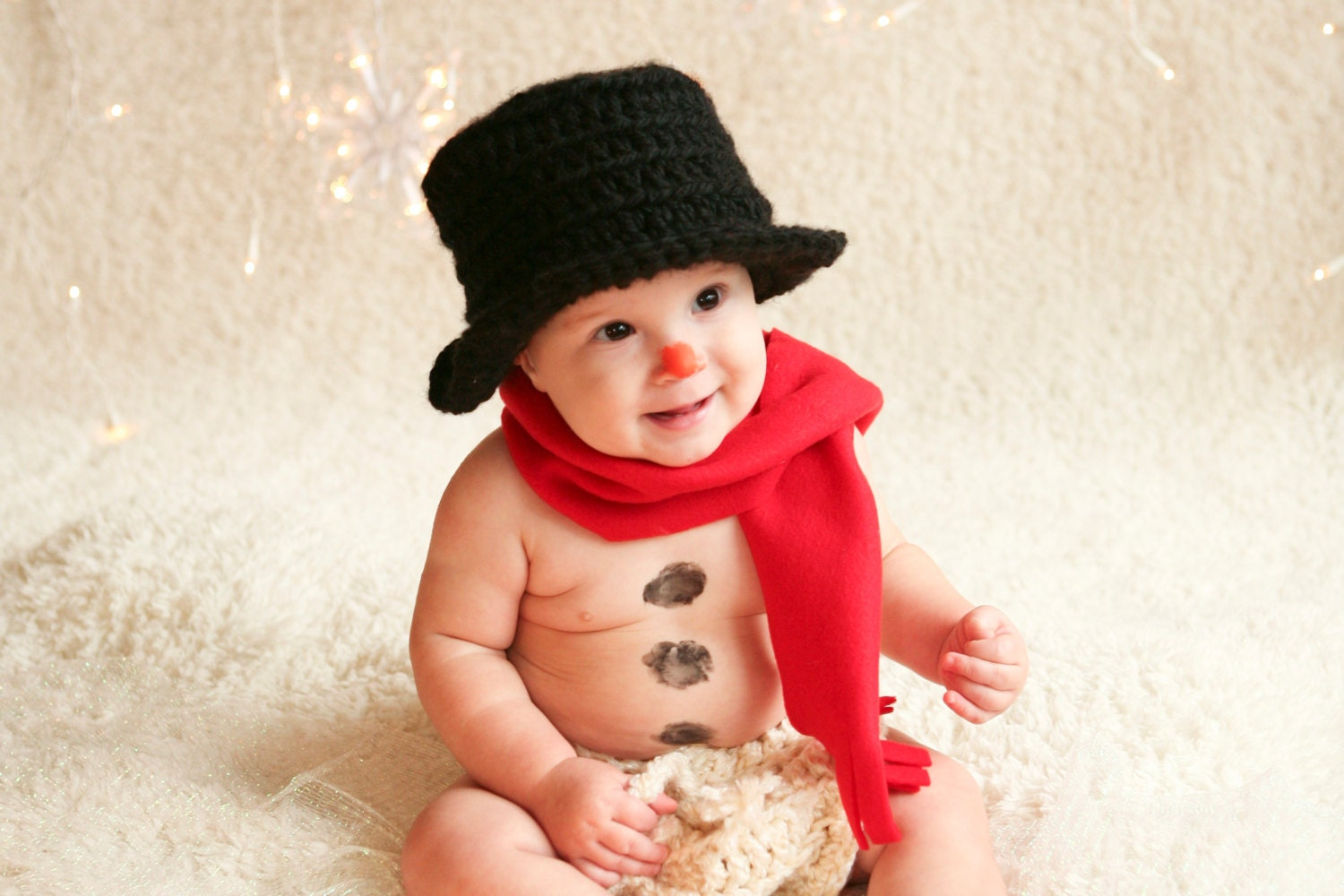 Snowman Hat Ready to ship Christmas Hat Baby Top Hat