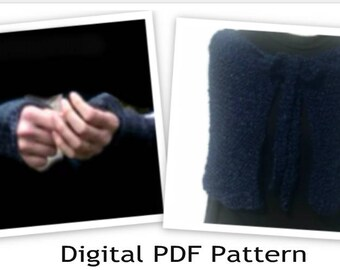 Gathering Shawl & Arm Warmers  Claire's Sassenach PDF Knitting Pattern Are not finished products