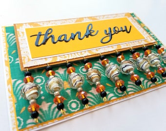 Beaded Thank You Card