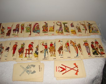 Vintage Ed-U-Cards Cowboys and Indians Card Game