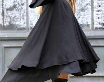 Plus Size Dress, Women Dress, Black Dress, Midi Dress, Loose Dress, Long Sleeve Dress, Plus Size Tunic, Women Black Dress, Batwing Dress