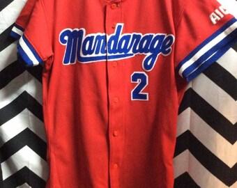 Vintage RARE Cotton Baseball Jersey - Cotton - Japanese - Redsters #9 Japan kvVAG