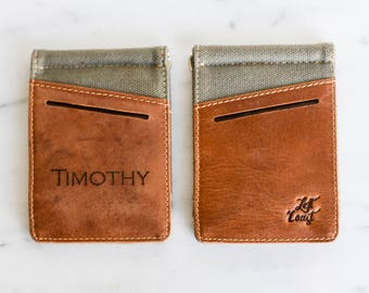 Personalized Leather Money Clip Wallet Slim Men Man Gift for Him Dad Father Boyfriend Guy Groomsman Best Man Handmade The Desoto Wallet