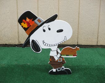 Thanksgiving Peanuts Snoopy Yard Sign
