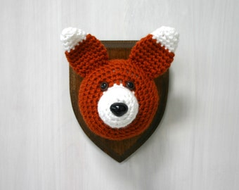 Crochet Taxidermy Fox