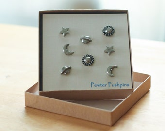 Celestial Pushpins For Your Corkboard