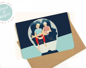 GLBTIQ | Gay | Lesbian | Greeting Card: 'Games Night'