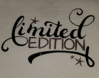 Limited Edition Onsie / new baby gift / newborn gift / limited edition tee / glitter Onzee