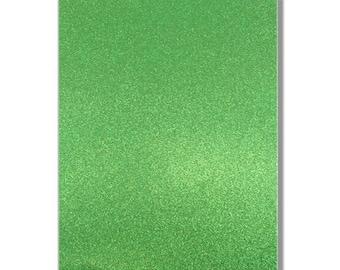 2 x A4 sheets of Premium Dovecraft Emerald Green Glitter Card 220 gsm