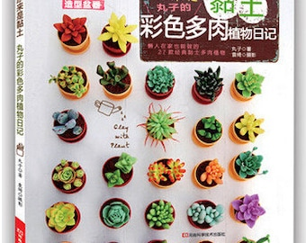 27 Polymer clay succulent plants, craft book - Succulent plant, polymer clay tutorial