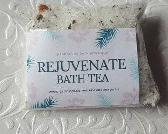 Rejuvenate Citrus Bath Tea Soak Bag Green Tea Orange Grapefruit Lemongrass Himalayan Pink Epsom Salt Wedding Baby Shower Favor Floral Herb