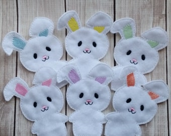 Bunny Finger Puppets, Easter Toy, Easter Gift, Easter Basket,