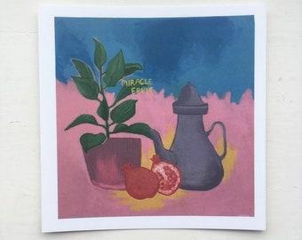 Miracle Fruit Art Postcard