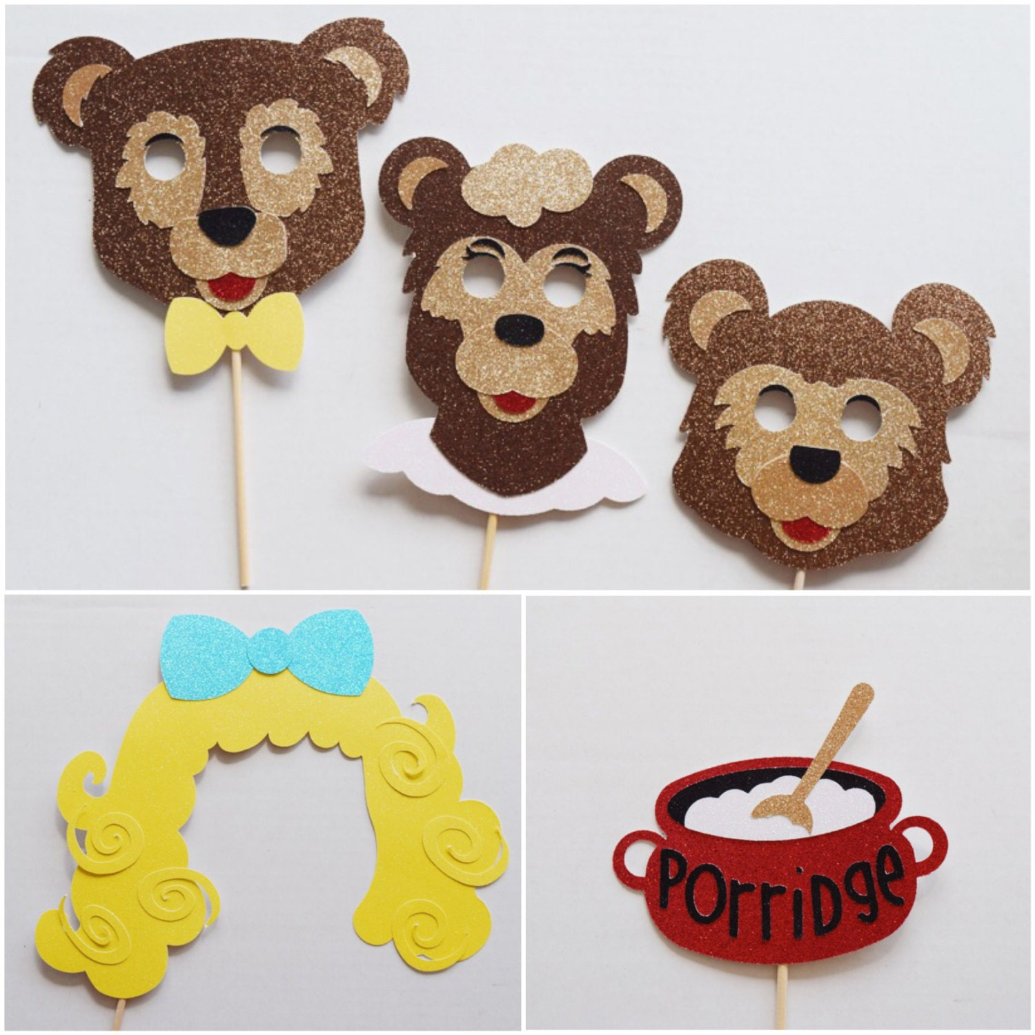 Goldilocks And The Three Bears Photo Booth Props Storybook