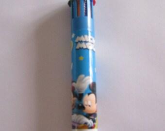 pen ballpoint, 10 colors, blue