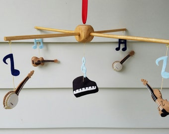 Music baby mobile, Music Nursery Decor