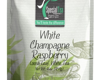 16 oz. White Champagne Raspberry Loose Tea with Free Tea Infuser