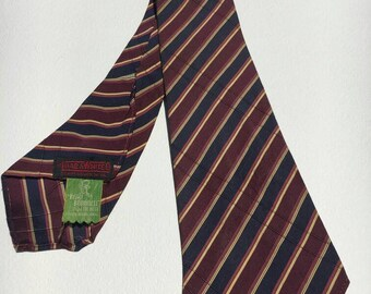 1940s Black/Yellow/Red Striped Ivy Tie