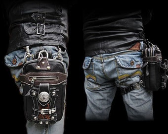 Leather Waist Bag for Bikers  / wp3625r67
