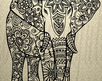 Elephant Mandala Svg / Mandala SVG / Svg / Elephant Mandala / Elephant Art /Svg Decal / Elephant Zentangle
