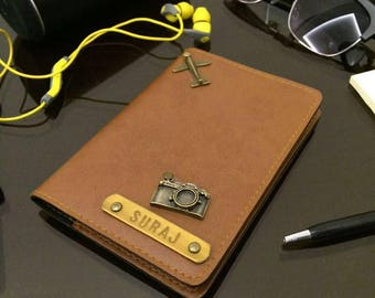 Personalized Passport Cover - Tan brown edition