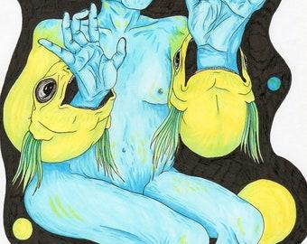 SEASCAPE illustration art piece