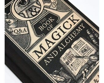 Occult Book of Magic & Alchemy A5 Hardback Notebook. Magic Spell Book Grimoire Journal Blank Lined Paper Inside. Occult Witchcraft Gift.