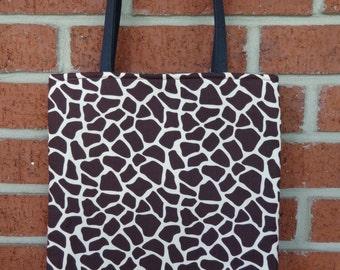 Reversible Tote Bag: Giraffe Print