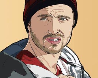 Jesse Pinkman A4 Art Print