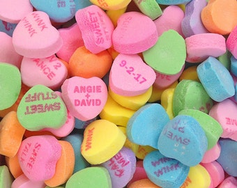 Personalized Valentines Day Gift Candy Hearts Wedding Gift Customized Names Dates Photo Anniversary Invitation pp171