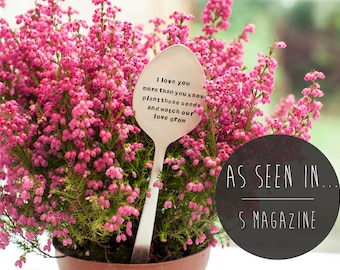 Personalised Silver Spoon Plant Marker & Wild Flower Seeds