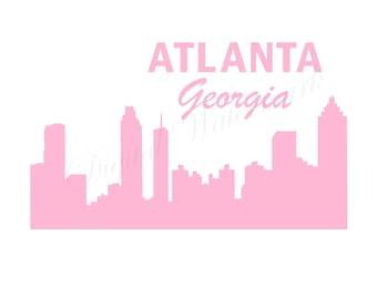 Atlanta Georgia SVG & Studio 3 Cut File Outline Design for Silhouette Cricut Files Cutout Decals Logo Svgs Skyline Sky Line City Decal Logo