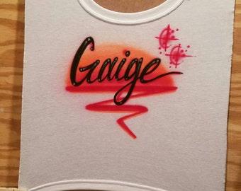 Airbrush Red and Hot orange name design!