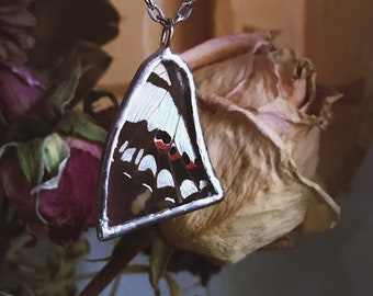 Soldered glass, butterfly, butterfly wings, wings, nature, butterflies, pendant, necklace