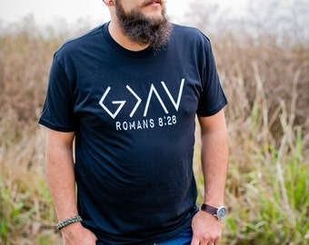 God is Greater than the Highs and Lows - Christian Shirts - Jesus Shirt - Mens Christian Shirts - Scripture Shirt - God is Greater