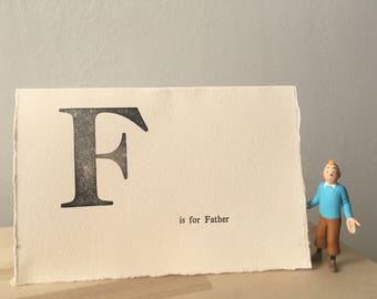 Letterpress Father's Day card