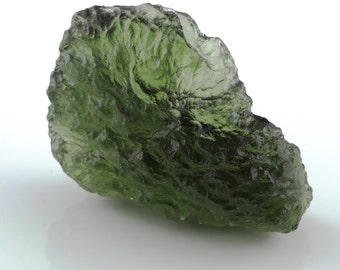 Self Standing Moldavite from Besednice, 6.28 grams genuine Moldavite, Czech republic green gemstone, collector large Moldavite, seer crystal