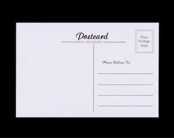 25 Blank Postcards - Soft Grey Cardstock - Standard Font - #P9